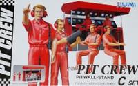 Pit Crew (4) w/Pitwall Stand 1/20 Fujimi