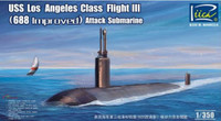 USS Los Angeles Class Flight III (688 Improved) Attack Submarine 1/350 Riich