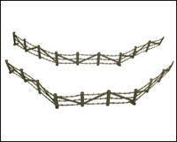 Barbed Wire & Concertina Wire Sections (8ea.) 1/32 Classic Toy Soldiers