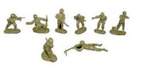 WWII US Infantry Set #1 (16) 1/32 Classic Toy Soldiers
