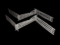 Civil War Split Rail Fence Sections (9) 1/32 Classic Toy Soldiers