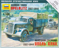 German Opel Blitz Truck 1937-44 (Snap Kit) 1/100 Zvezda