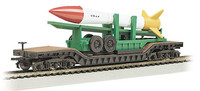 52' Center Depressed Flat Car w/Missile N Bachmann Trains