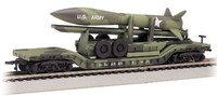 52' Center Depressed Flat Car w/Missile US Army (Olive Drab Camouflage) N Bachmann Trains