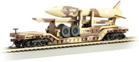 52' Center Depressed Flat Car w/Missile US Army (Desert Camouflage) N Bachmann Trains