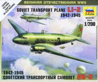 Li-2 Soviet Transport Aircraft 1942-45 (Snap Kit) 1/200 Zvezda