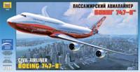 Boeing 747-8 Intercontinental Passenger Airliner 1/144 Zvezda