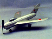 "MiG-17 Rubber Pwd Aircraft Laser Cut Kit 18"" Wingspan Dumas"