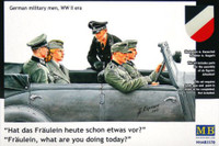 'Fraulein, what are you doing today?' WWII German Military Personnel 1/35 Master Box