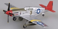 P-51C Mustang Red Tails Tuskegee WWII Built-Up Plastic 1/72 Easy Model