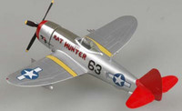 P-47D Thunderbolt Red Tails Tuskegee WWII (Built-Up Plastic) 1/72 Easy Model