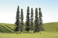"""Scenescape 5""""-6"""" Conifer Trees (6/pk) Bachmann Trains"""
