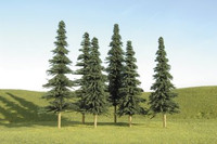 "Scenescape 5""-6"" Spruce Trees (6/pk) Bachmann Trains"