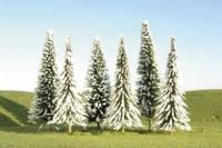 "Scenescape 3""-4"" Pine Trees w/Snow (9/pk) Bachmann Trains"