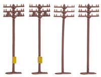 Telephone Poles (12pcs/Cd) N Bachmann Trains
