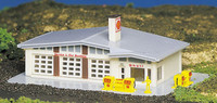 Shell Gas Station Building Built-Up N Bachmann Trains