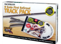 "Your 1st Railroad E-Z Track Pack 4.67'x28"" Layout w/DVD (47pcs) N Bachmann Trains"