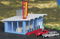Drive-In Hamburger Stand Building Built-Up N Bachmann Trains