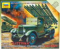 WWII Russian BM-I3 Katyusha Rocket Launcher (Snap Kit) 1/100 Zvezda