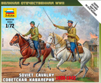 Soviet Cavalry 1935-1942 (2 Mounted) (Snap Kit) 1/72 Zvezda
