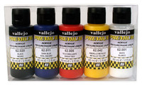 60ml Bottle Basic Opaque Premium Paint Set (5 Colors) Vallejo