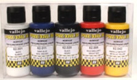 60ml Bottle Metallic Premium Paint Set (5 Colors) Vallejo
