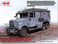WWII Henschel 33 D1 Kfz 72 German Radio Communication Truck 1/35 ICM Models