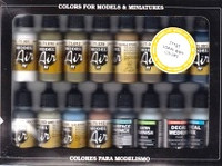 WWII USAAF Model Air Paint Set (16 Colors) 17ml Bottle Vallejo Paint