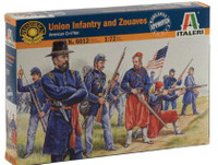 American Civil War Union Infantry & Zouaves (50) 1/72 Italeri