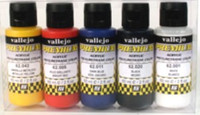 60ml Bottle Candy Color Premium Paint Set (5 Colors) Vallejo