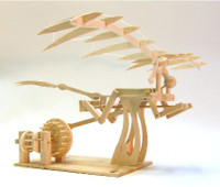 Leonardo DaVinci Ornithopter Wood Kit Pathfinders