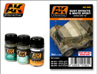 Dust Effects & White Spirit Enamel Paint Set AK Interactive