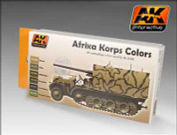 Afrika Korps Camouflage Acrylic Paint Set (6 Colors) 17ml Bottles AK Interactive