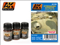Streaking Effects Enamel Paint Set (12, 13, 14) AK Interactive