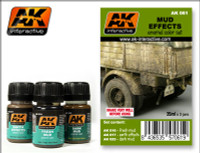 Mud Effects Enamel Paint Set (16, 17, 23) AK Interactive
