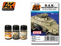 DAK Africa Korps Tanks Enamel Paint Set (65, 66, 67) AK Interactive