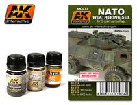 NATO Camouflage Enamel Paint Set (74, 75, 76) AK Interactive