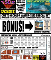 Seaview 8-Window Submarine Movie Version Decal Set for MOE 1/128 TSDS