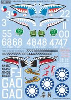 Warhawk American Volunteer Group H81A2 & Tomahawk RAF 112th Sq. 1/32 Warbird Decals