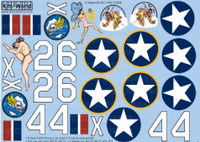 P-40  Butterfly Girl, High Kicker 1/32 Warbird Decals
