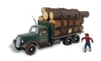 N Autoscene Tim Burr Logging Truck w/Figures N Woodland Scenics
