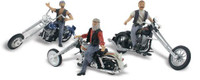 N Autoscene Bad Boy Bikers 3 Riders on Choppers N Woodland Scenics