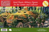WWII German SdKfz 251/D Halftrack (3) & Crew (24) 1/72 Plastic Soldiers