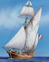 Corsair Single Masted Sailing Ship 1/150 Heller