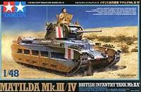 Matilda Mk III/IV British Mk IIA Infantry Tank 1/48 Tamiya