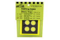 "Beauty Rings 5/8"" dia. Flat Surface (Chrome Finish) (4) 1/25 Parts by Parks"