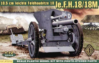 German leFH18/18M 105mm Field Howitzer 1/72 Ace Models