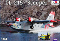 CL-215 Scooper Firefighting Amphibious Aircraft 1/144 A-Model