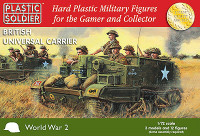 WWII British Universal Carrier (3) & Crew (12) 1/72 Plastic Soldiers
