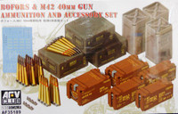 Bofors & M42 40mm Gun Ammunition and Accessory Set 1/35 AFV